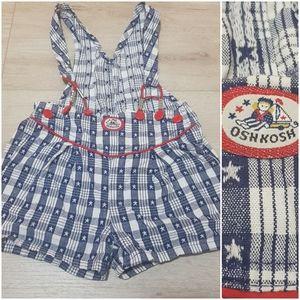 Vintage OshKosh B'Gosh Bib Overalls USA 4 T